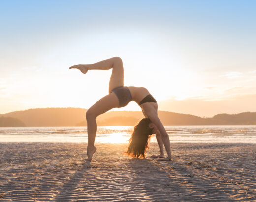 HOW TO DO YOGA ON THE BEACH